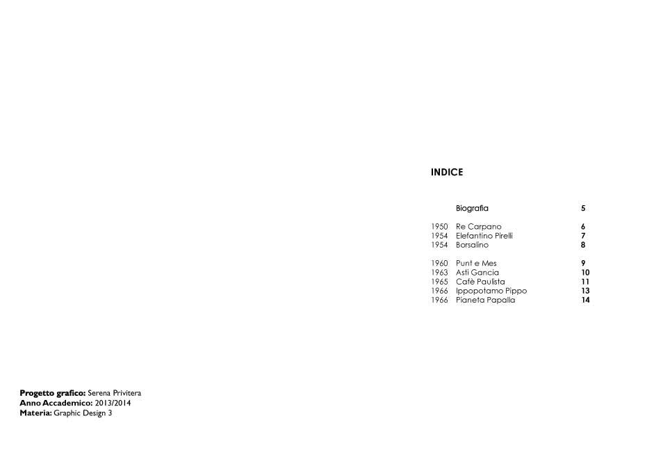 Monografia Armando Testa per Accademia di Catania Graphic Design