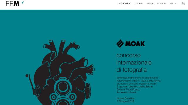 UX UI design per il concorso fotografico FuoriFuoco Moak Catania